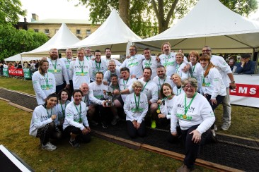 """FREE TO USE IMAGES Pictured: Winning and losing MP's and Lords pictured at the end of the event. Shock defeat as Lords beat male MPs for the first time in 10 years at Macmillan's Parliamentary Tug of War. The female MPs beat Baronesses A team of MPs including Secretary of State for Health and Social Care Matt Hancock MP were this evening beaten by a team from the Lords whilst raising money for people living with cancer. It was the first time since 2009 at the Macmillan Cancer Support event that the male MPs had been beaten, although the Lords team had some help from friends. Female MPs provided running commentary as their counterparts took to the rope. After the matches Angela Rayner MP said of the Secretary of State: """"Matt didn't win this tournament, but he's still in the race for the other one."""" The event took place on Tuesday evening in Westminster College Gardens in front of a packed crowd. Fundraisers are hoping to raise over £100,000 to support people in the UK living with cancer. Contact: Sarah Miller 020 7091 2224 